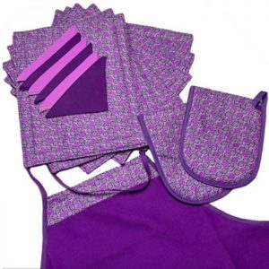 apron gloves and placemat set