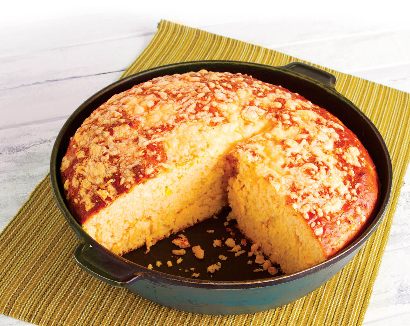 Cheese & Corn Pot Bread