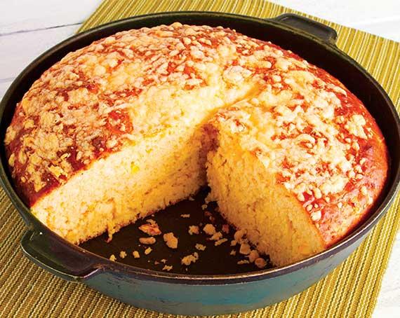 Cheese & Corn Pot Bread