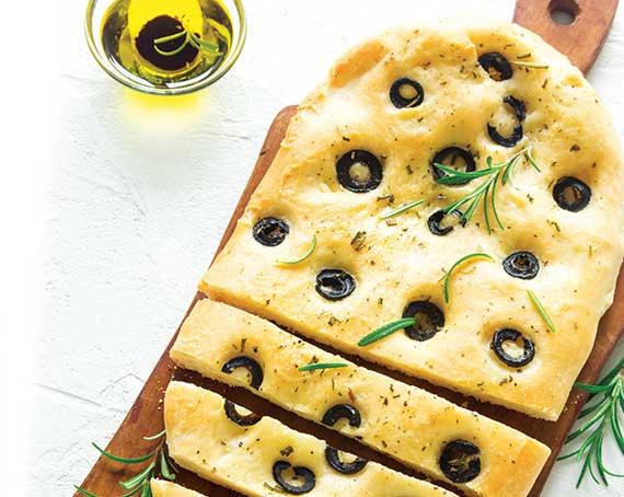 Italian Olive Flat Bread